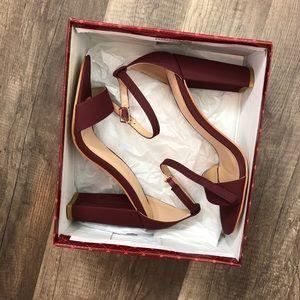 NWT wine heels